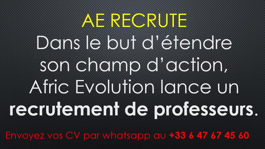 AE recrute