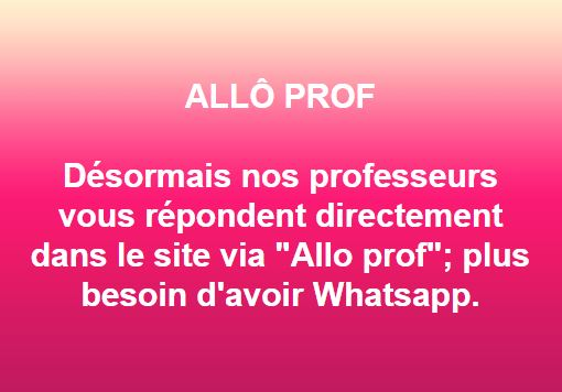 Allo prof