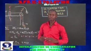 Determination de l'acceleration d'un mobil partie iv
