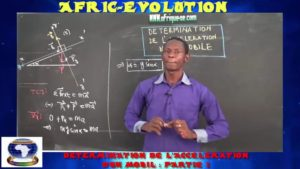 Determination de l'acceleration d'un mobil partie i