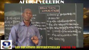 Equations differentielles partie vii