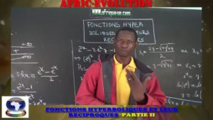 Fonctions hyperboliques et leur reciproque partie ii