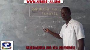 Generalites sur les polynomes