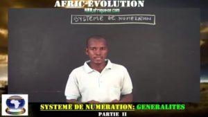 Generalite sur le systeme de numeration partie ii