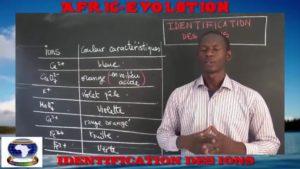 Identification des ions