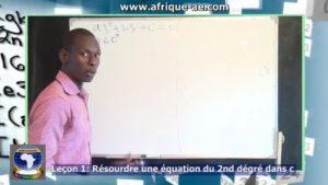 Maths 1 equation 2 degre dans c