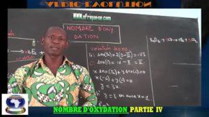 Nombre d'oxydation partie iv
