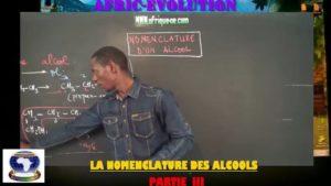 Nomenclature des alcools partie iii