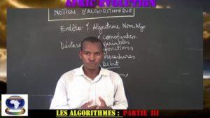 Notion d'algorithmique partie iii