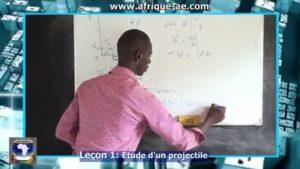 Physik 1 etude projectile
