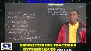 Propriete des fonctions hyperboliques partie iii