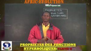 Propriete des fonctions hyperboliques partie ii