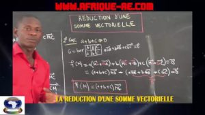Reduction d'une somme vectorielle
