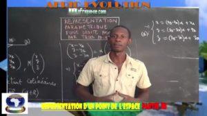 Representation d'un point de l'espace parite iii
