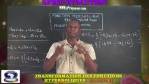 Transformation produit en somme des fonctions hyperboliques partie ii
